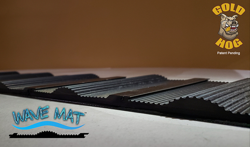wave sluice mat glued